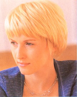 Short hairstyle, classic bob, blonde picture