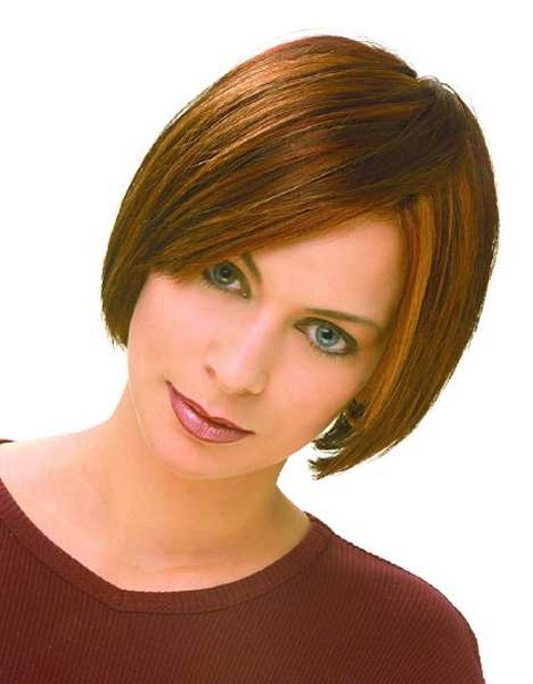 side bangs hairstyle pictures. short trendy bob hairstyle with long side