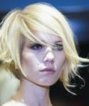 Wavy asymmetrical bob blonde