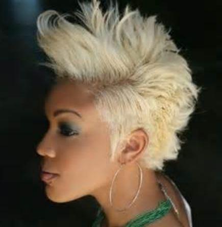 Blonde Short Mohawk Hairstyles Black Women