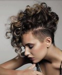 Short Curly Hair Mohawk Hairstyle with highlights
