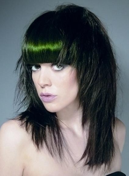 straight bang hairstyles. Women