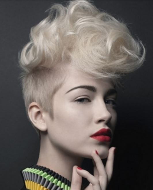 Prime Women Newest Undercut Hairstyle With Wavy Puffy Bang Like Mohawk Short Hairstyles For Black Women Fulllsitofus