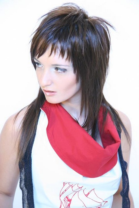 Remarkable Emo Hairstyle In Medium Long Length Hairstyles For Women Draintrainus