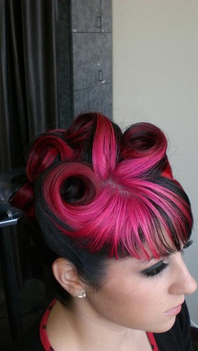 cool funky hairstyle in black