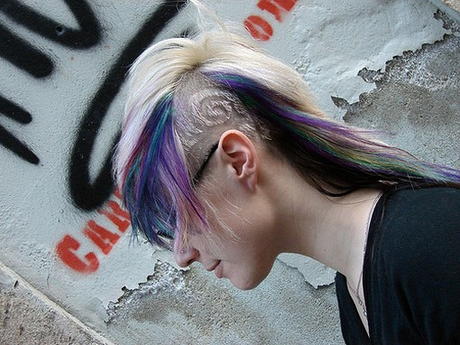cool funky punk hairstyle