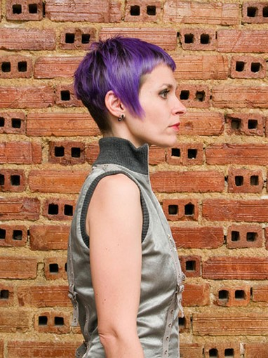 Short Purple Shaved Haircut Punk Hairstyles Gallery Pictures | LONG ...