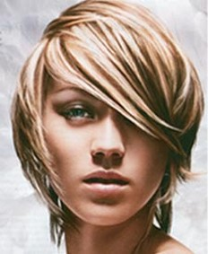 Sexy Short Hairstyles picture of Sexy Short Hairstyle With Layers And Long Side Bangsjpg