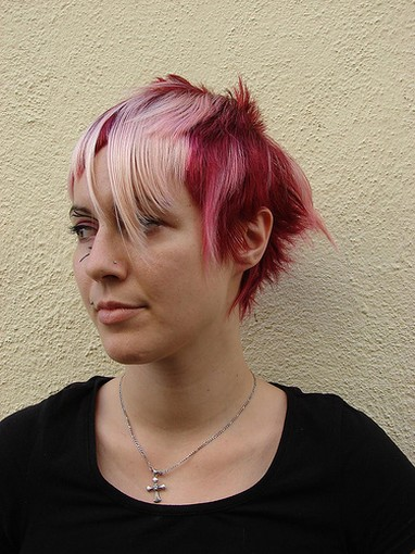 pink hairstyles. short pink hairstyle.jpg picture