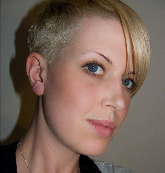 Very Short Boyish Women Haircut With Very Cool Style PNG