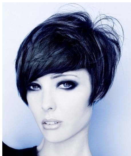 Short Bob Hairstyles with Bangs Back