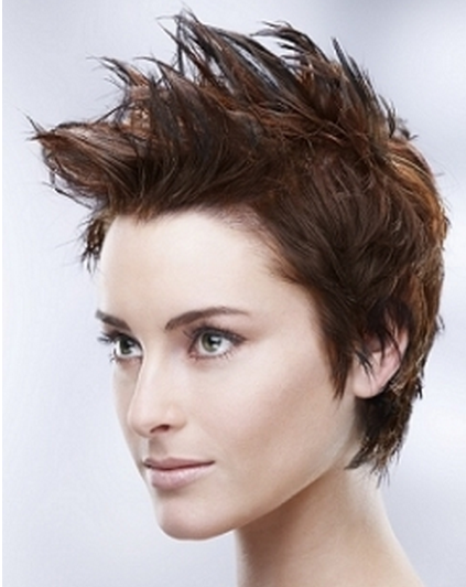 Very Short Spiky Hairstyles Women