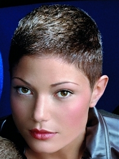 Women Very Short Haircut Picture Png