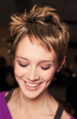 Very Short Haircut Woman
